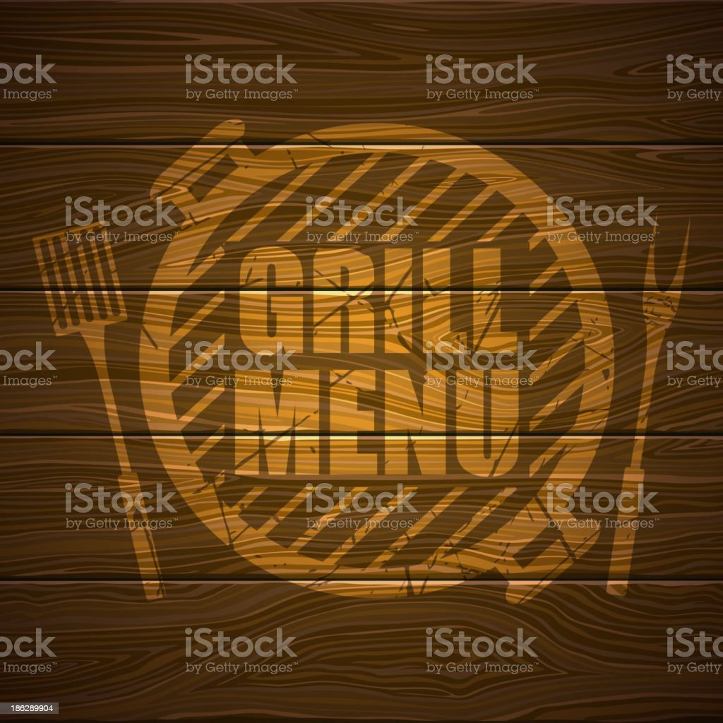 Vector Grill Menu Design vector art illustration