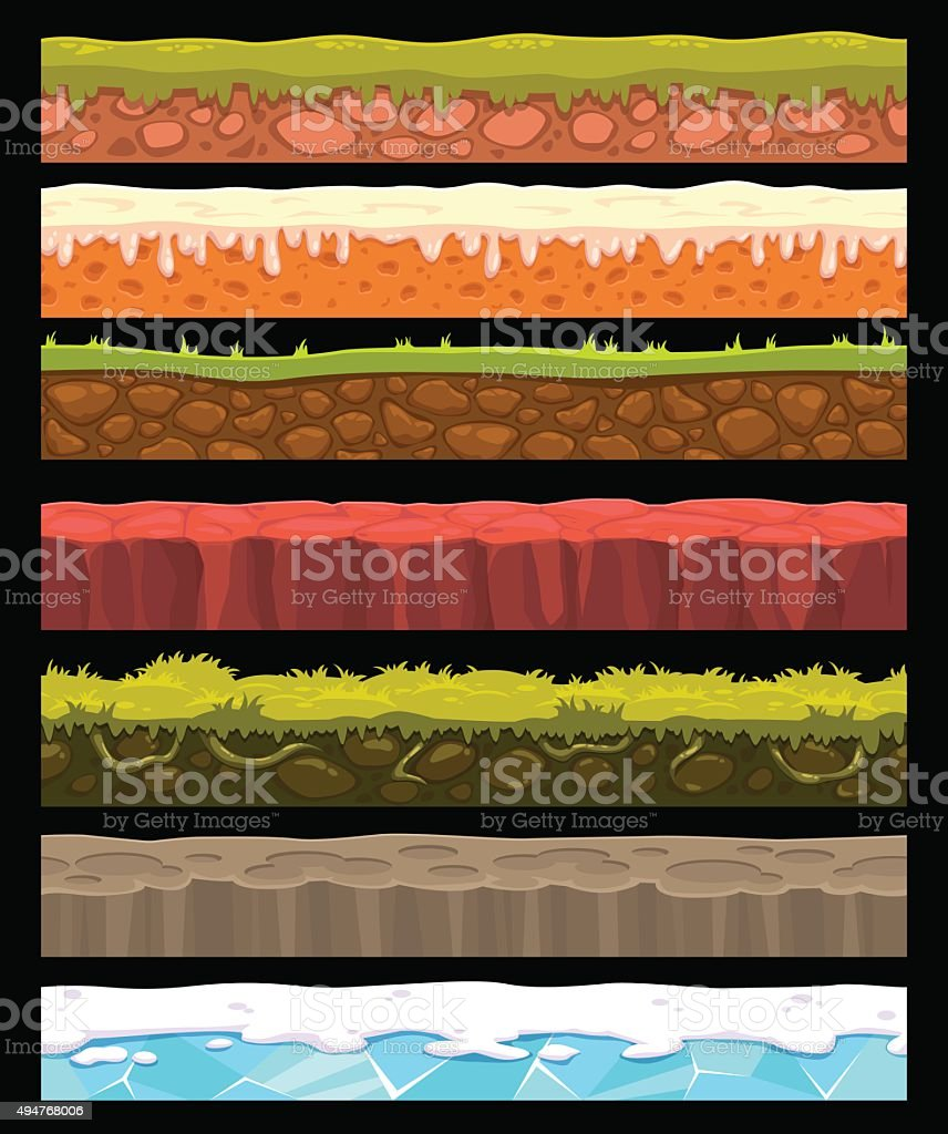 Vector ground collection vector art illustration