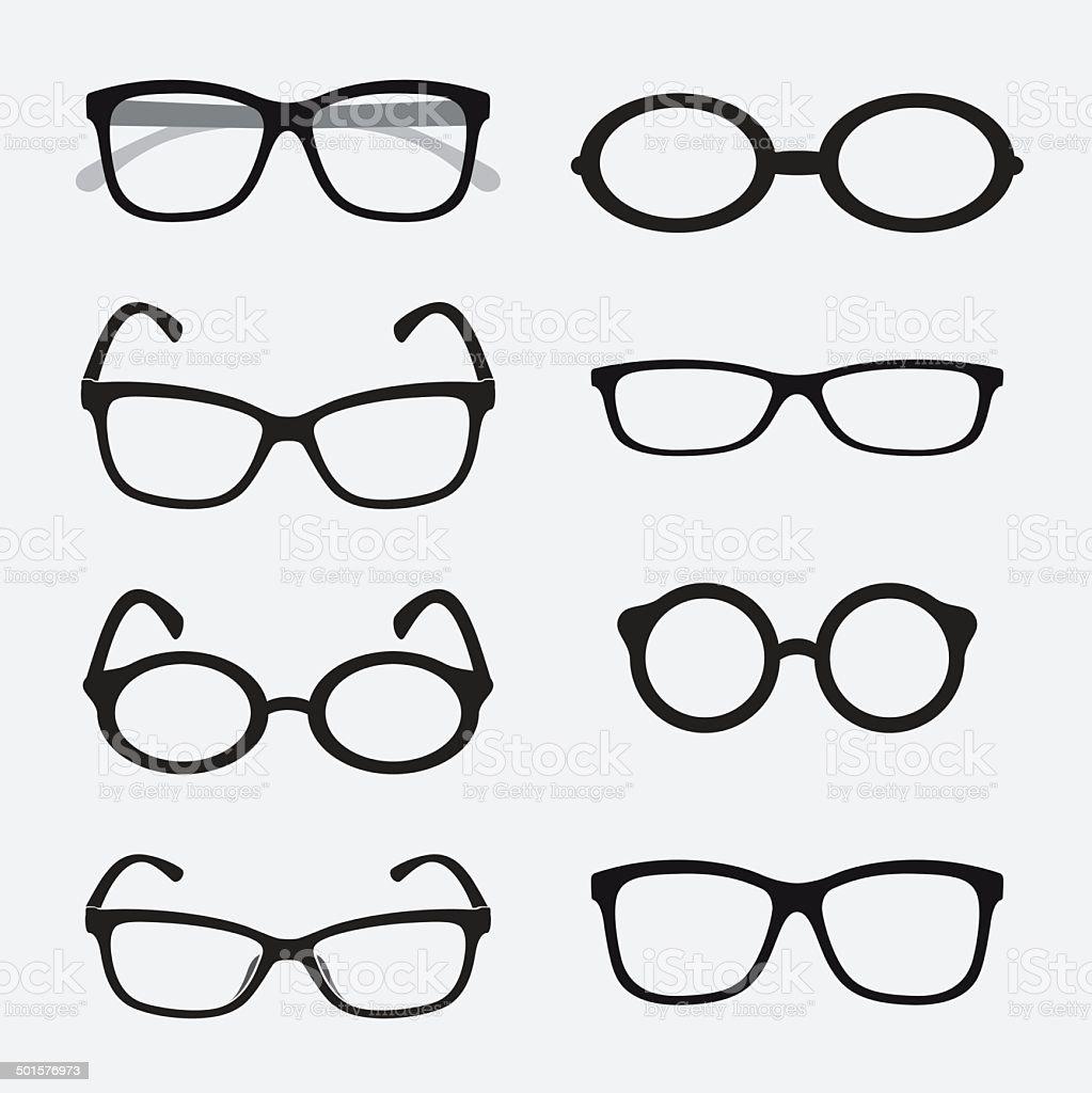 Vector group of an Glasses vector art illustration