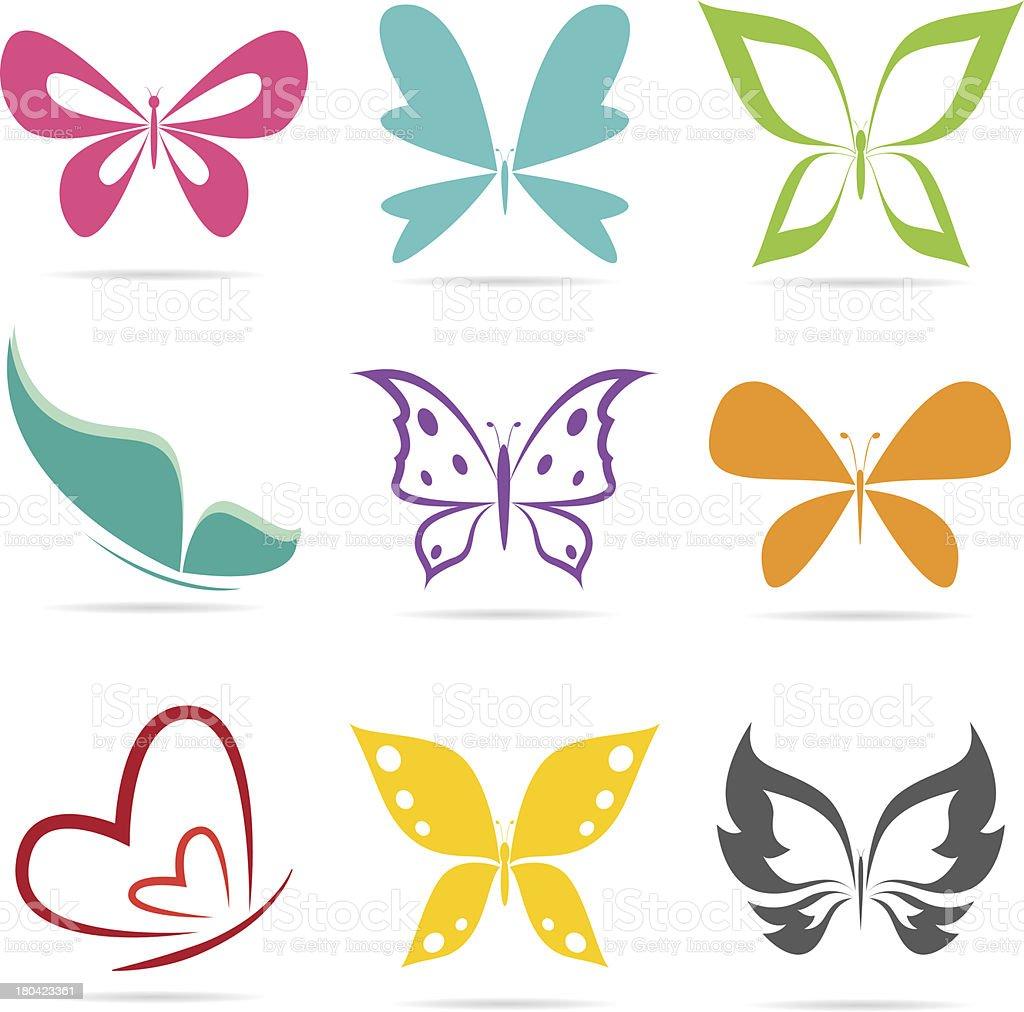 Vector group of butterflies royalty-free stock vector art