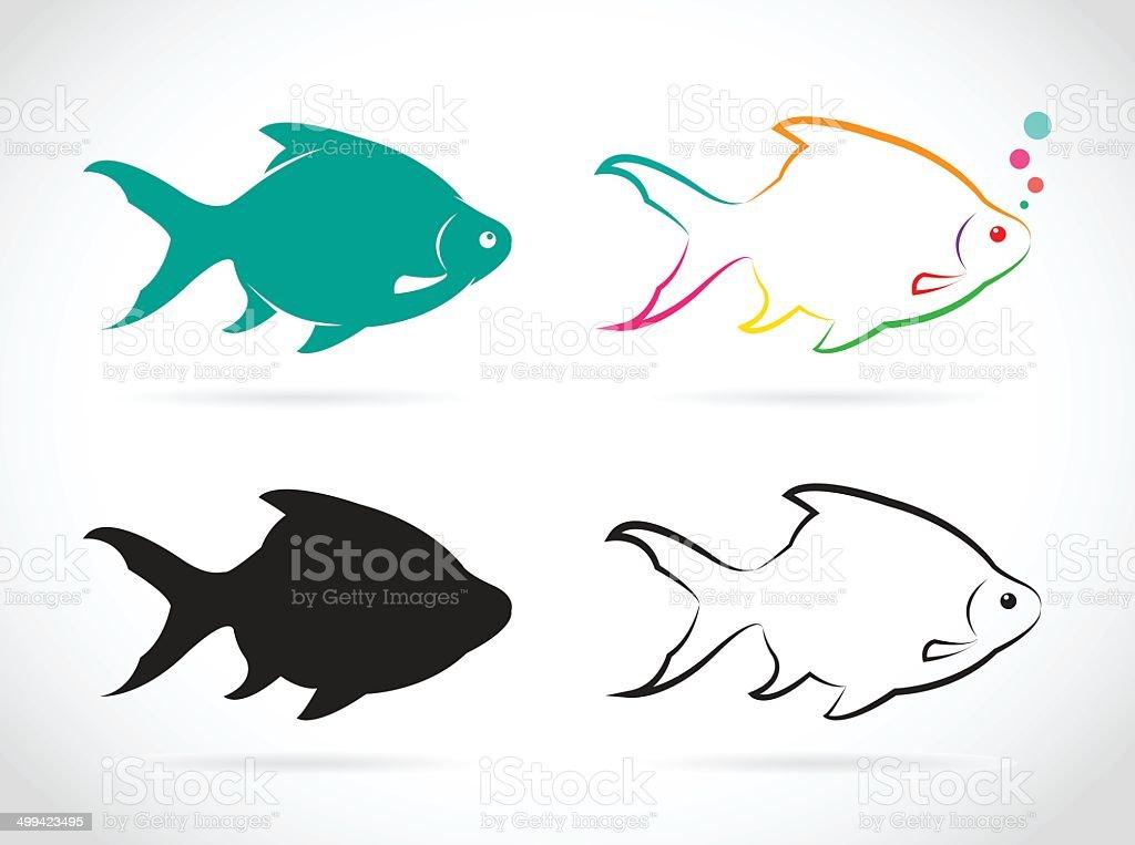 Vector group of fish vector art illustration