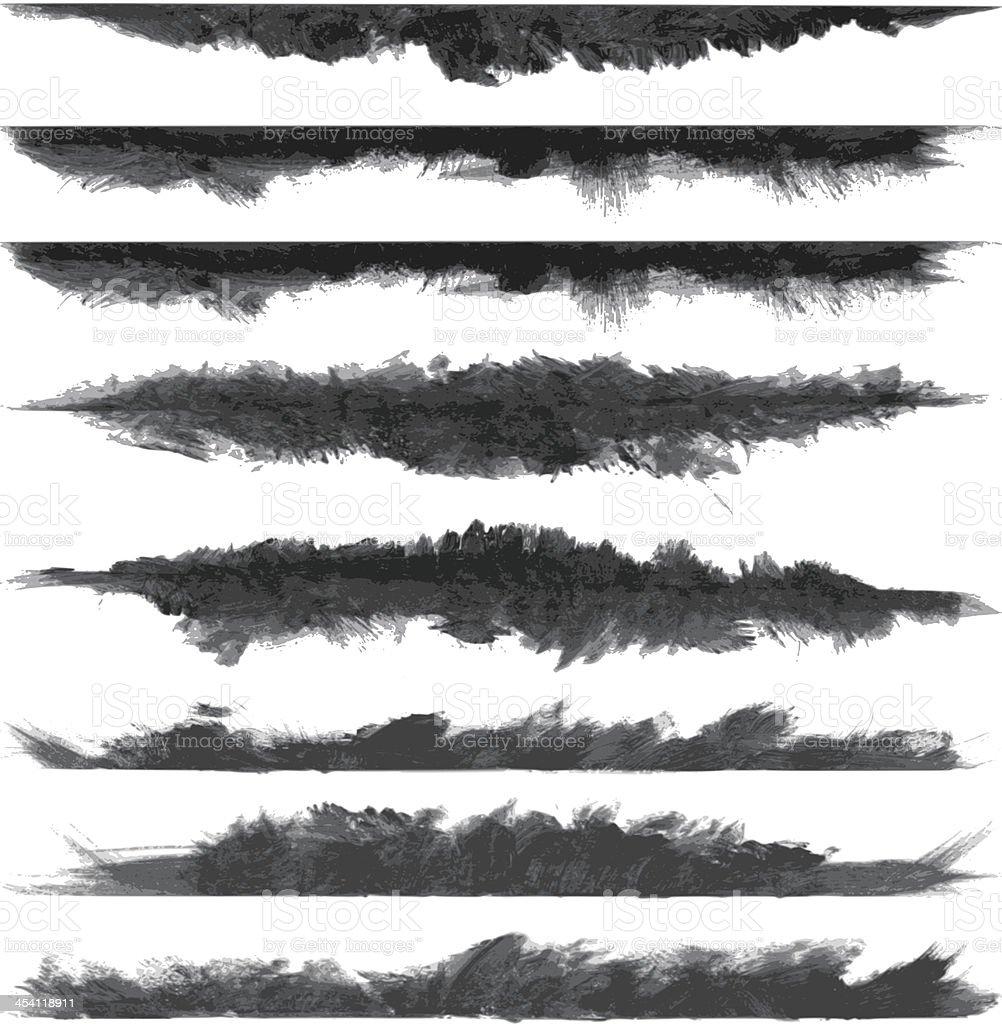 vector grunge brush stroke banners vector art illustration