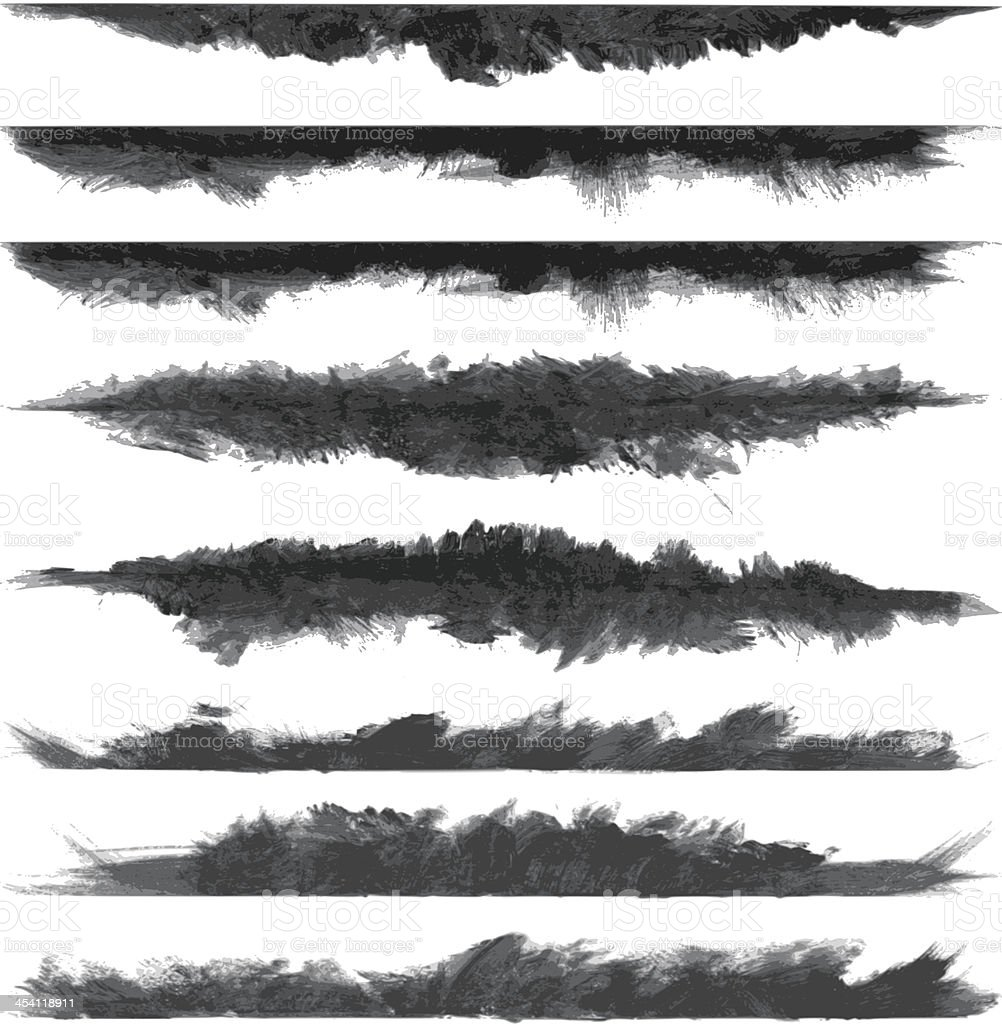 vector grunge brush stroke banners vector art illustration