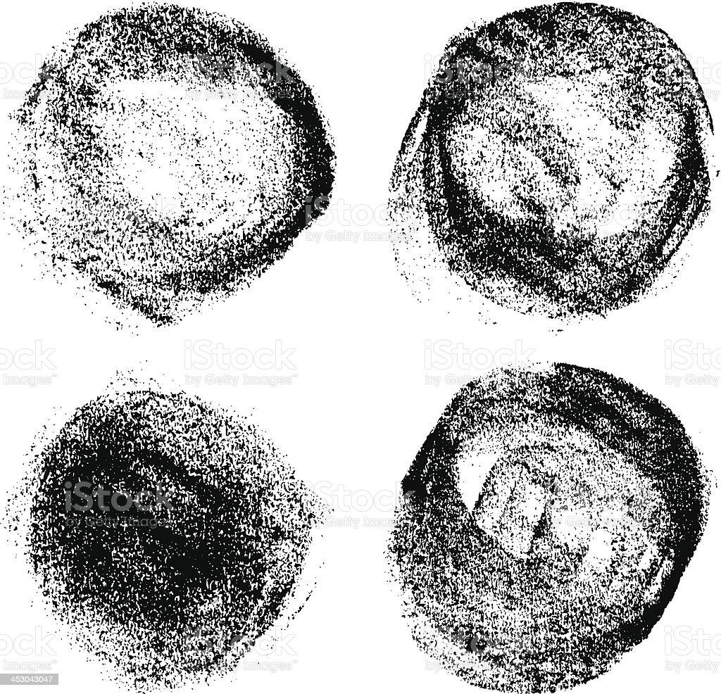 vector grunge brush strokes background vector art illustration