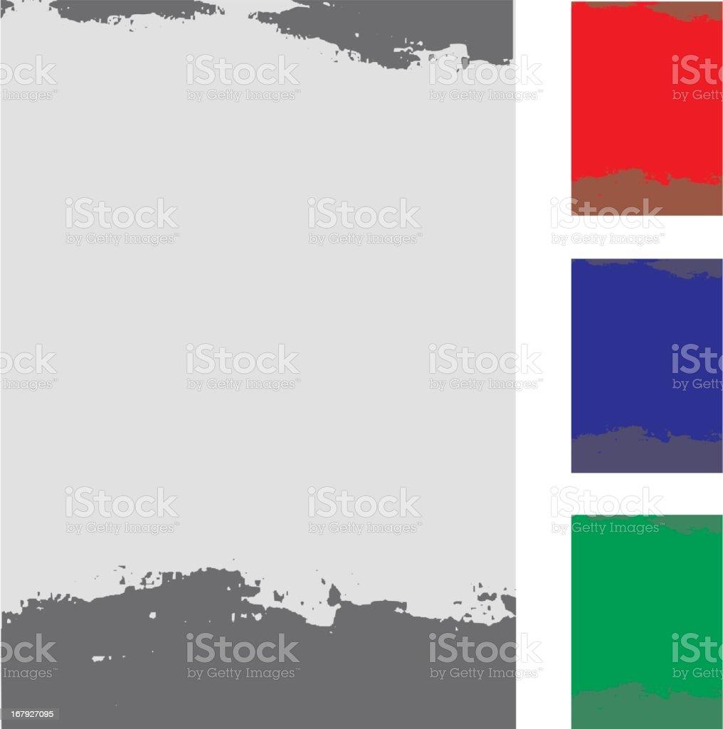 vector grunge color frames royalty-free stock vector art