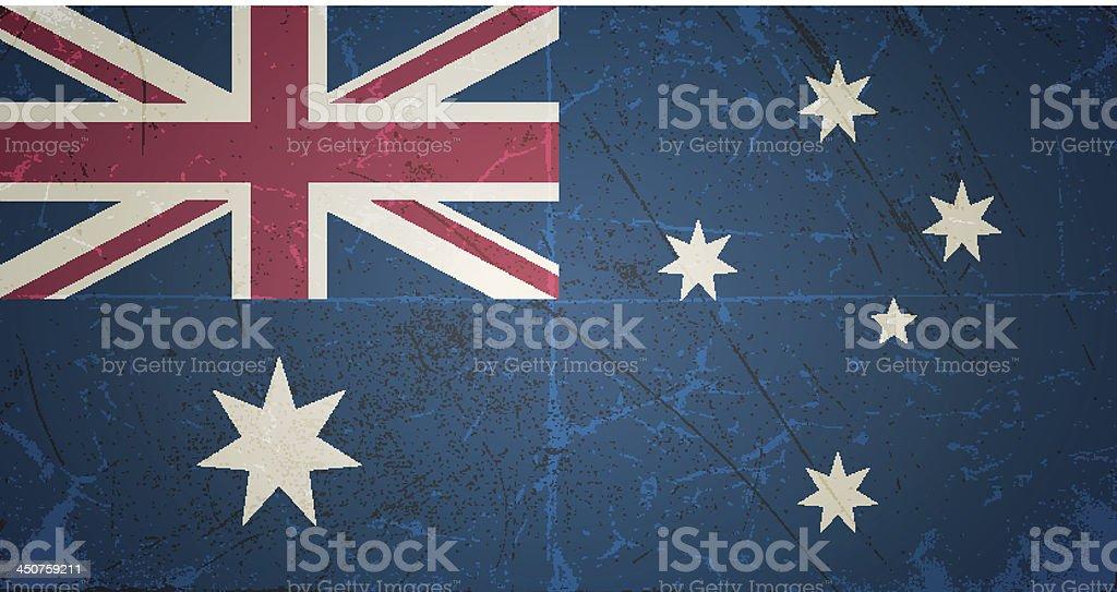 vector grunge flag of australia royalty-free stock vector art