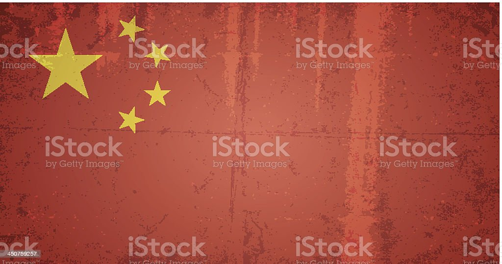 vector grunge flag of china royalty-free stock vector art