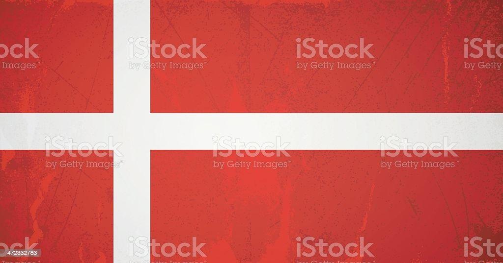 vector grunge flag of denmark royalty-free stock vector art