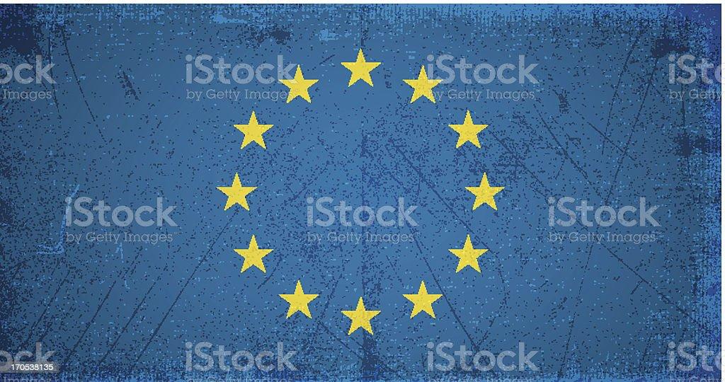 vector grunge flag of european union royalty-free stock vector art