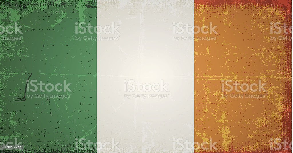 vector grunge flag of ireland royalty-free stock vector art