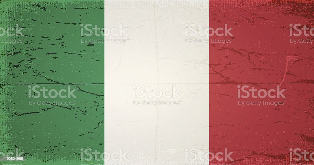 vector grunge flag of italy royalty-free stock vector art