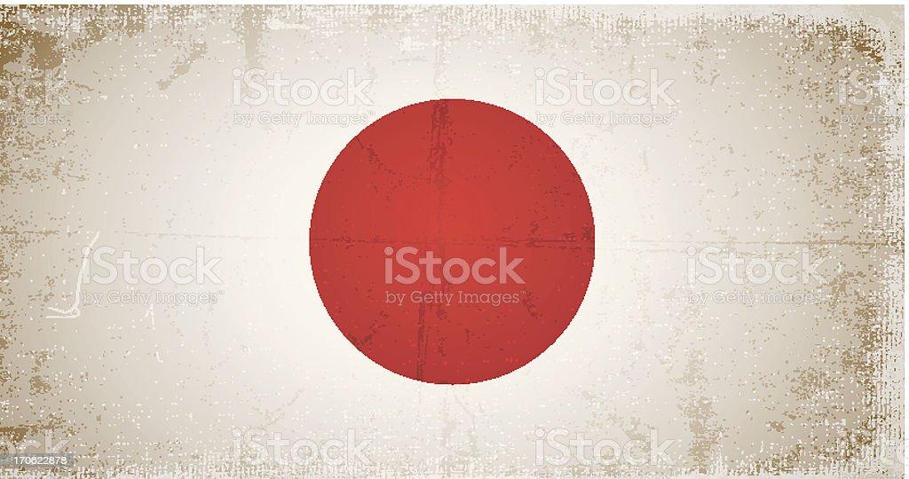 vector grunge flag of japan royalty-free stock vector art