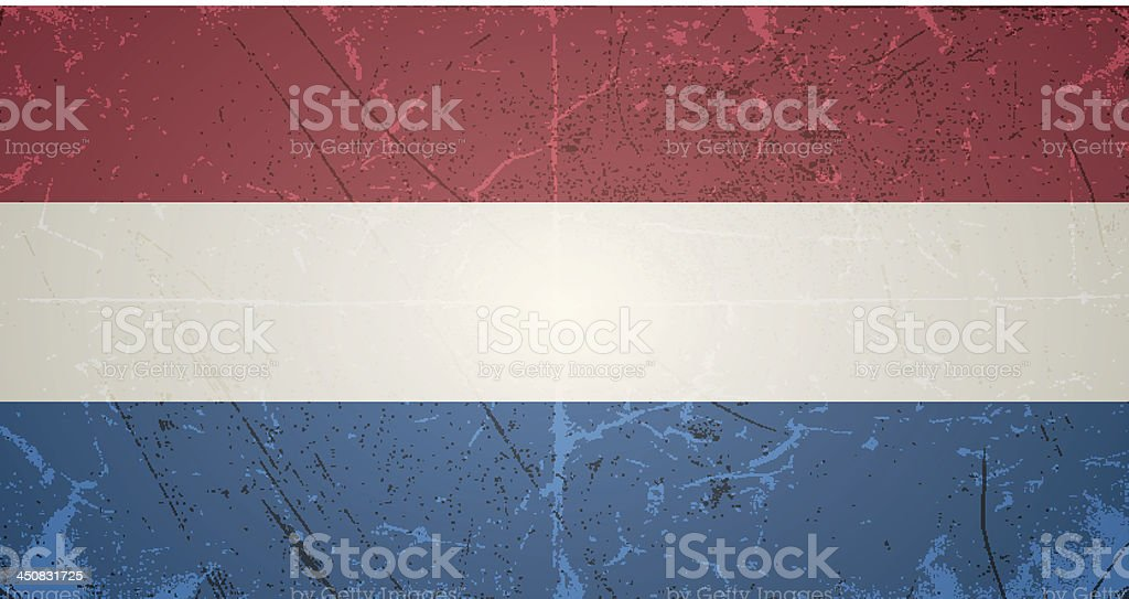 vector grunge flag of netherlands royalty-free stock vector art
