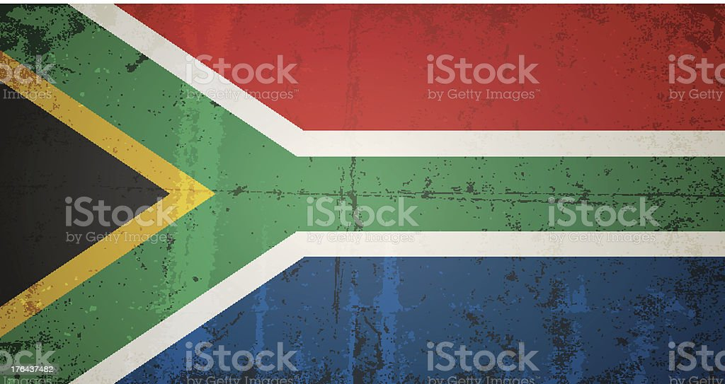 vector grunge flag of south africa royalty-free stock vector art