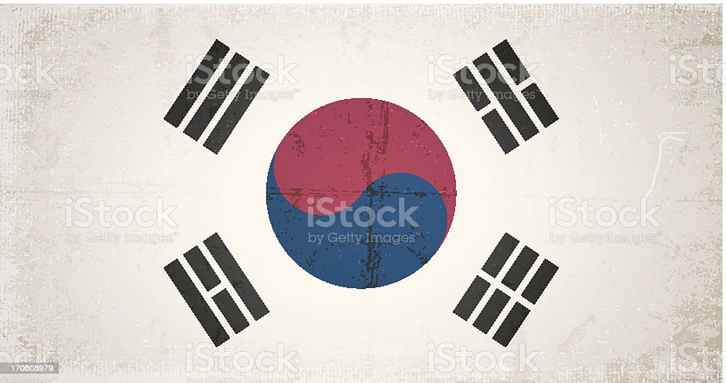 vector grunge flag of south korea royalty-free stock vector art