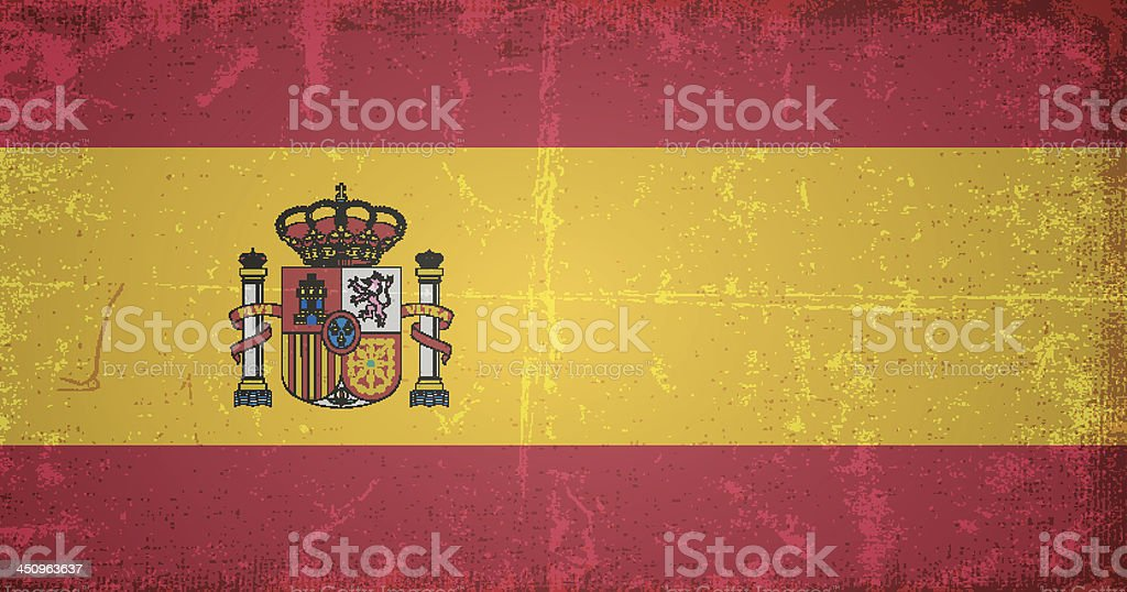 vector grunge flag of spain royalty-free stock vector art