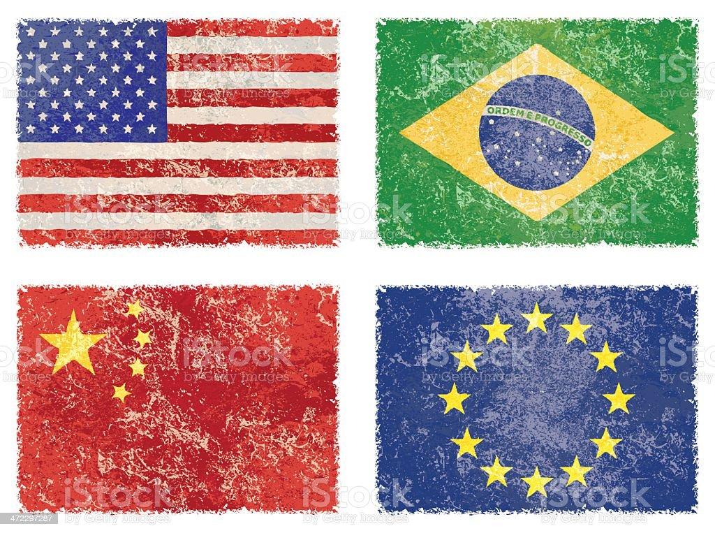 vector grunge flags royalty-free stock vector art