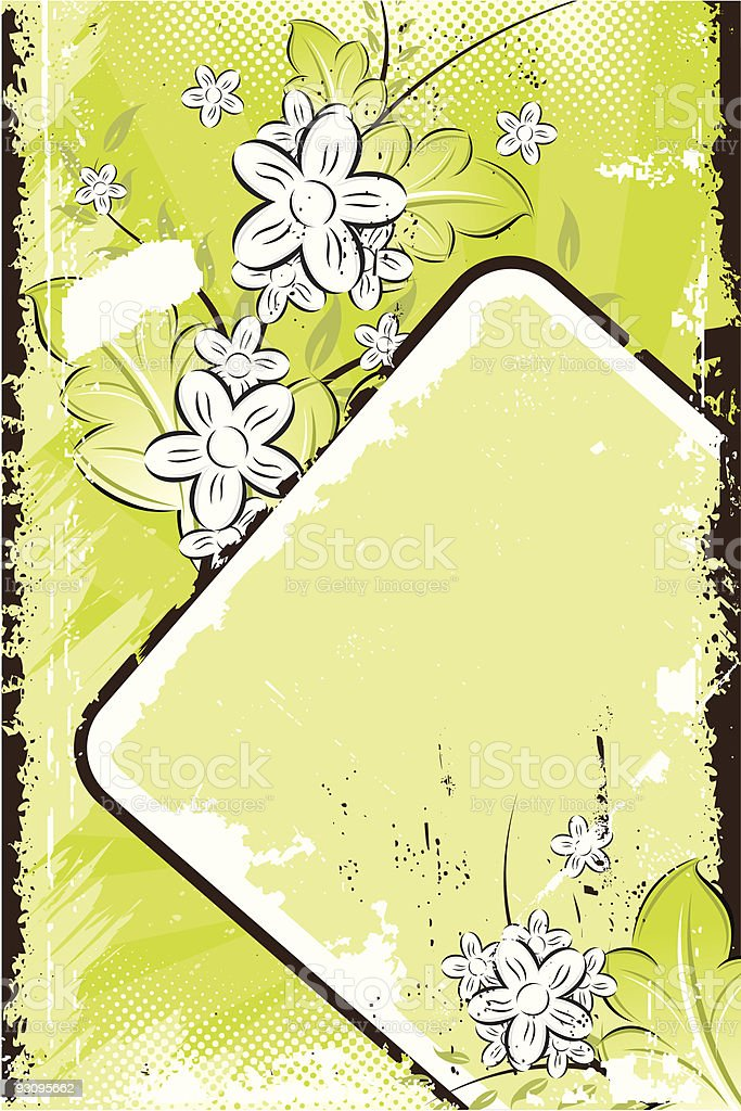 Vector grunge floral background royalty-free stock vector art