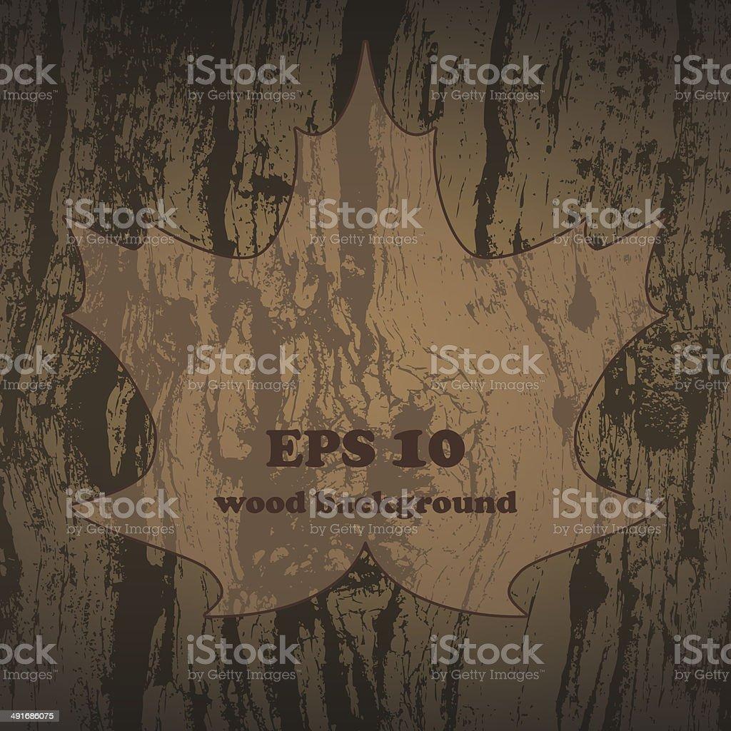 Vector grunge wooden texture. vector art illustration