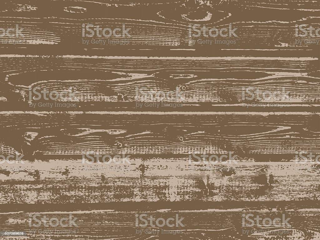 Vector grunge wooden texture vector art illustration
