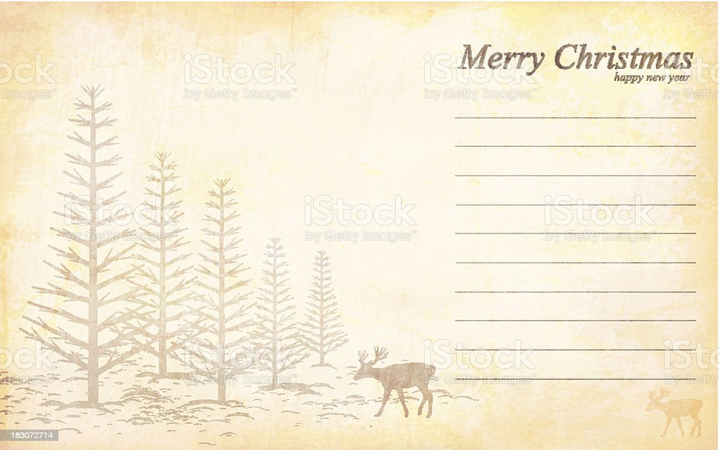 Vector Grungy Christmas and New Year Greetings royalty-free stock vector art