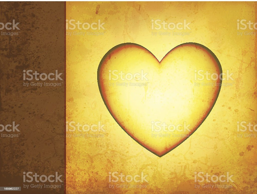 Vector Grungy Love Background royalty-free stock vector art