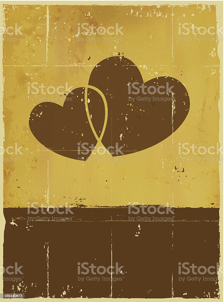 Vector Grungy Love Background with copyspace. royalty-free stock vector art