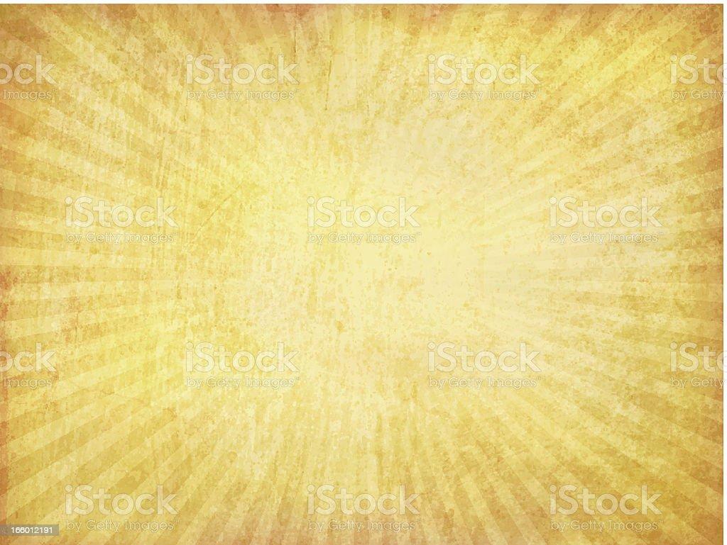 Vector Grungy Sunburst Background vector art illustration