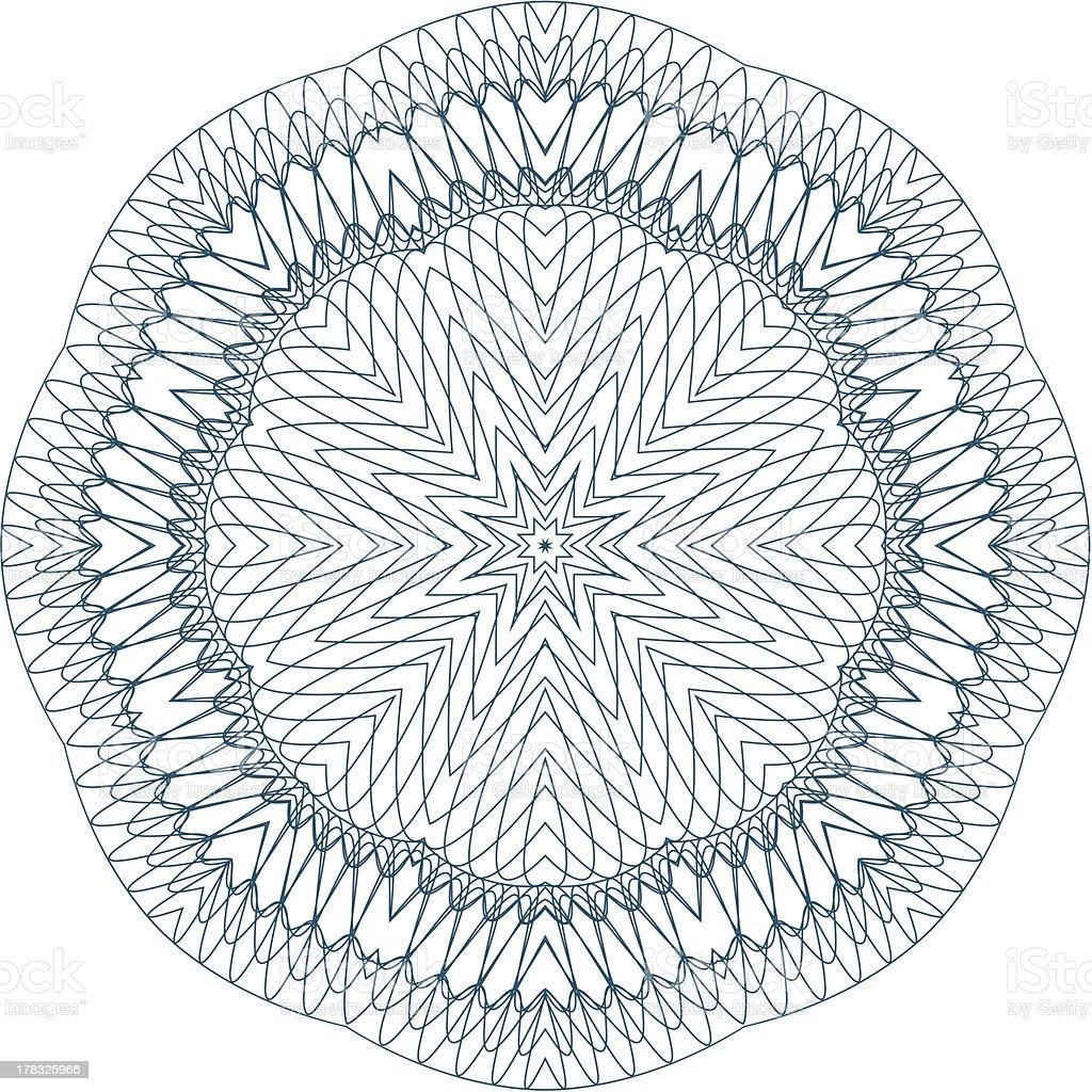 Vector Guilloche Rosette royalty-free stock vector art