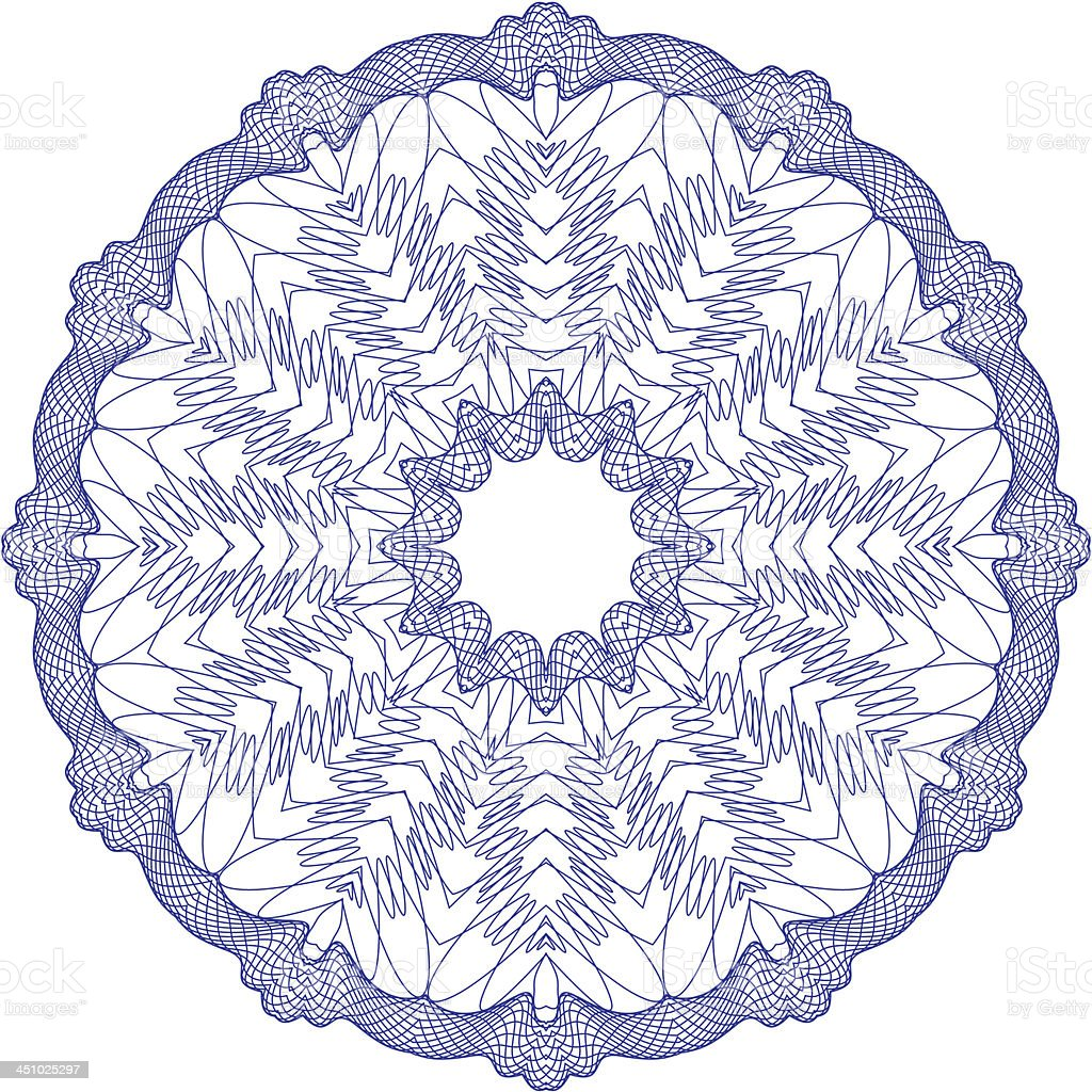 Vector Guilloche Rosette royalty-free stock vector art