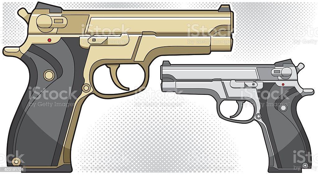Vector gun vector art illustration