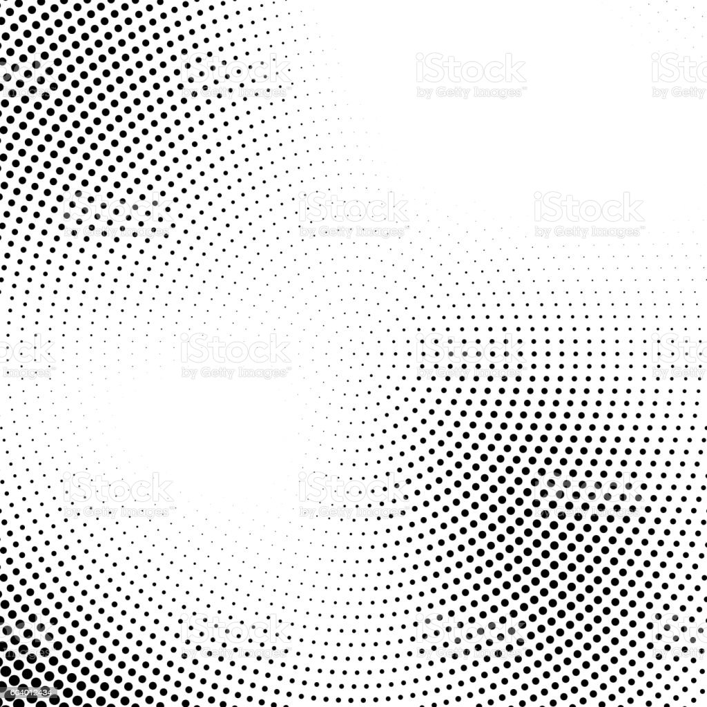 Vector halftone abstract transition dotted circular pattern royalty-free stock vector art
