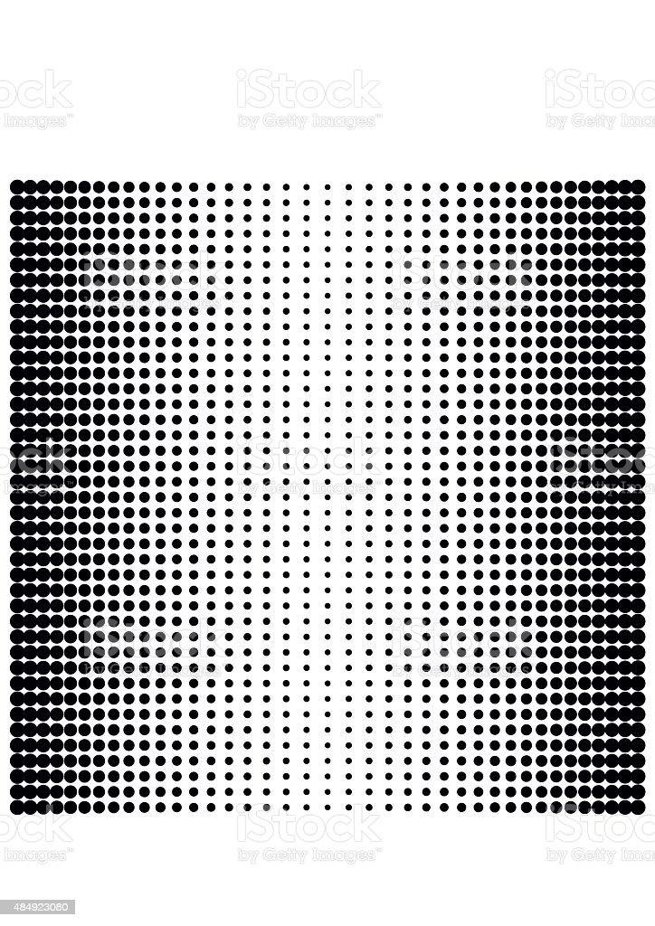 Vector halftone dots. Black dots vector art illustration
