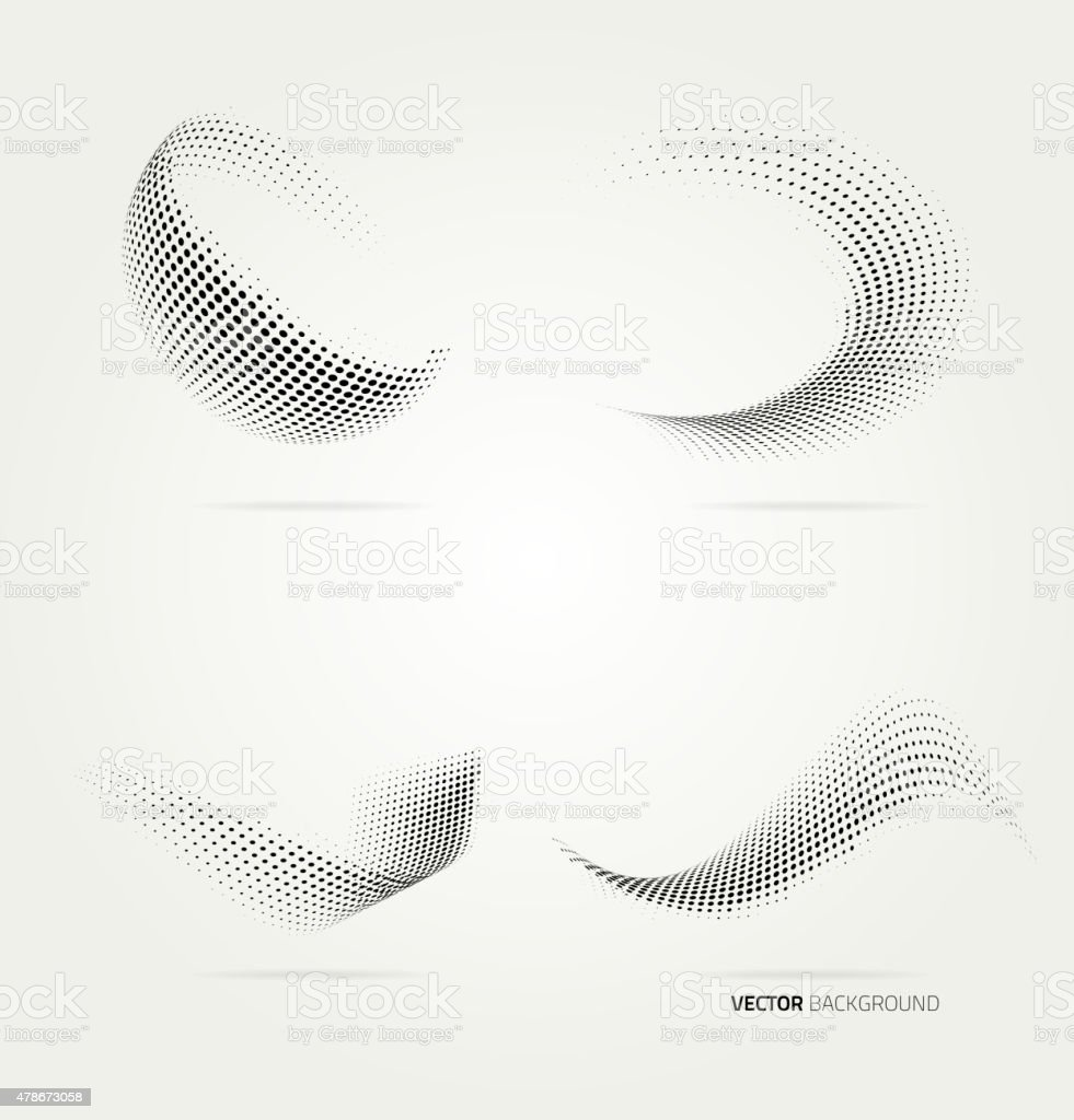 Vector halftone dots vector art illustration