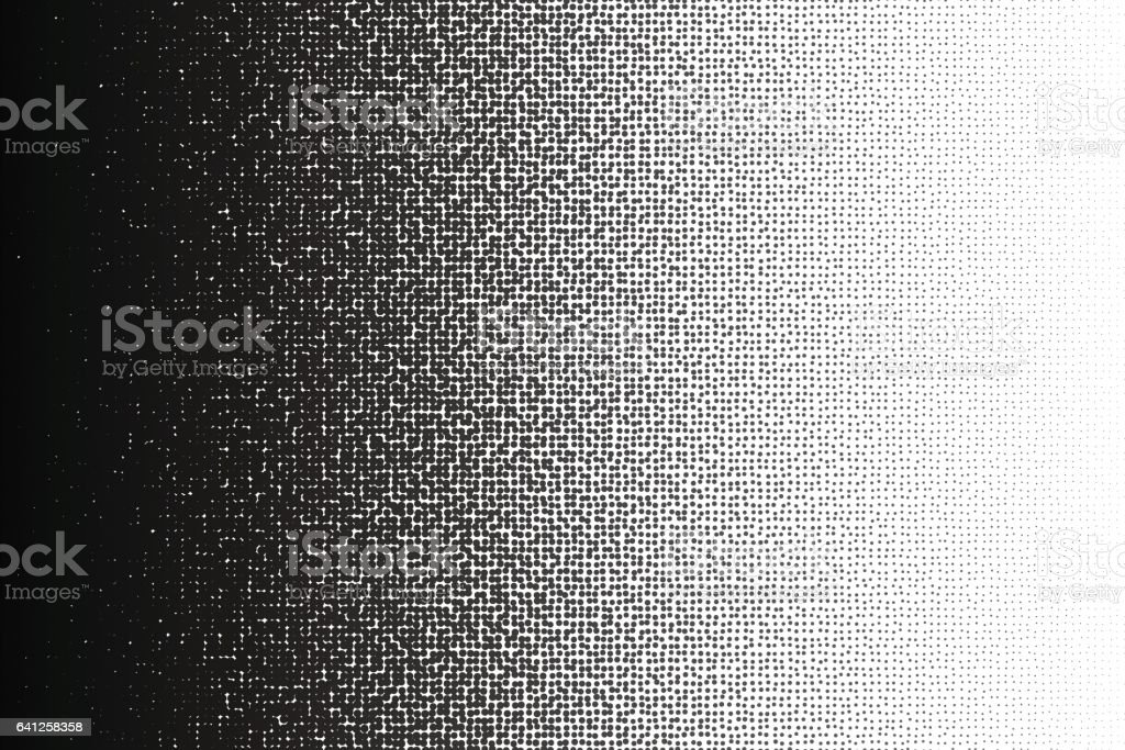 Vector halftone irregular transition pattern made of dots with a4 proportions. vector art illustration