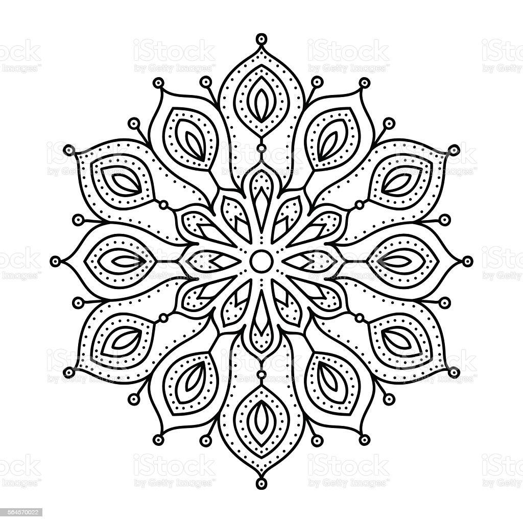 Vector Hand Drawn Doodle Mandala Stock Vector Art