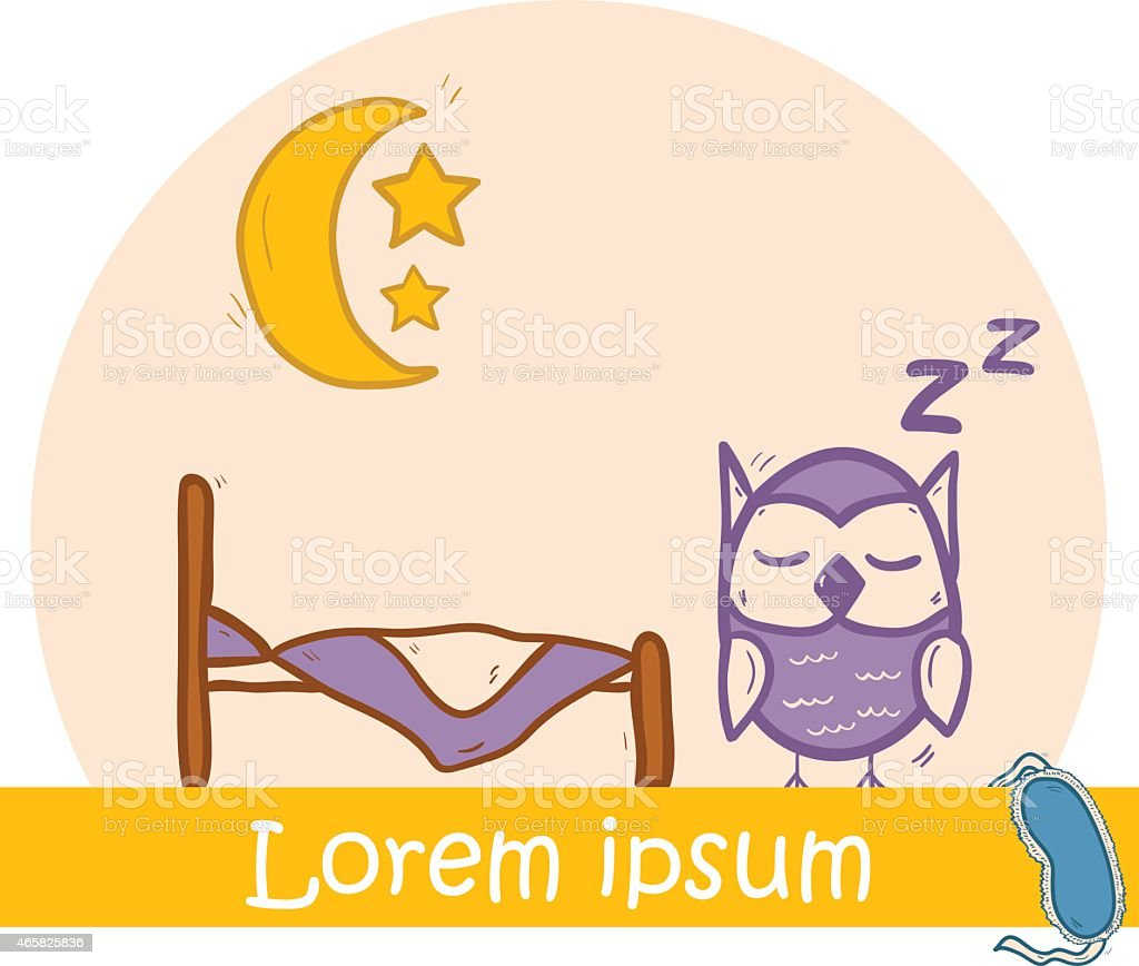 Vector hand drawn illustration on sleep theme vector art illustration