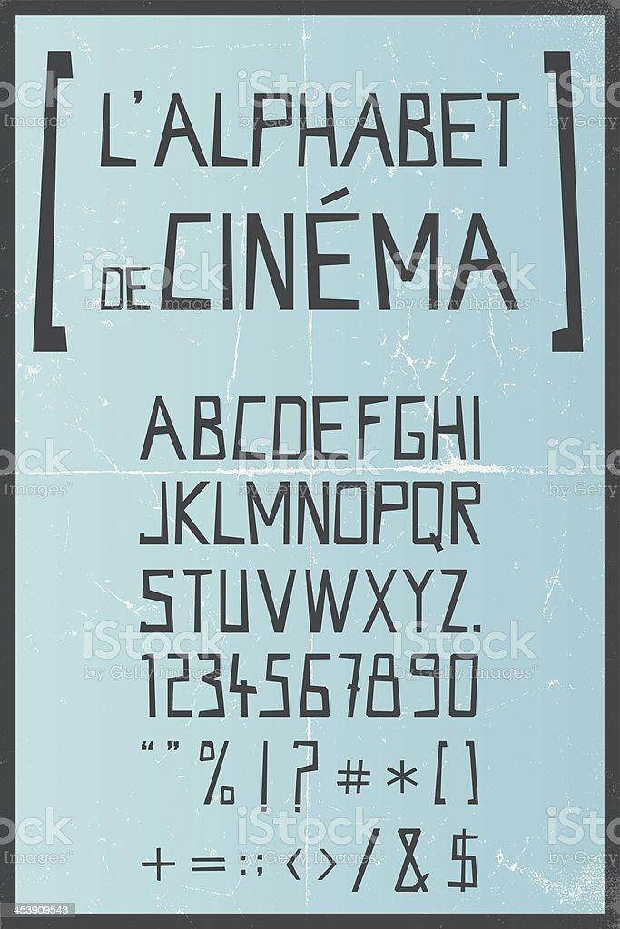 vector hand drawn retro alphabet royalty-free stock vector art