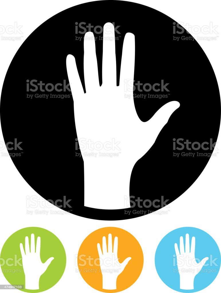 Vector hand palm icon vector art illustration