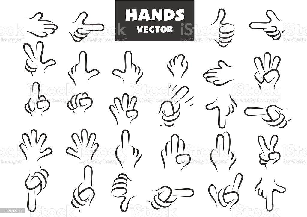 Vector hands royalty-free stock vector art