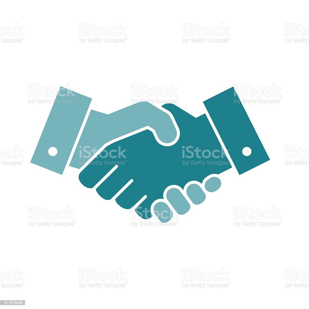 Vector handshake icon vector art illustration