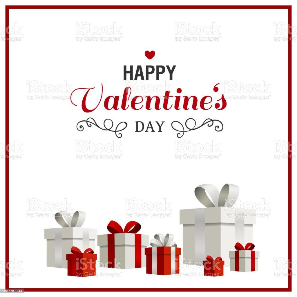 Vector Happy Valentines Day Design vector art illustration