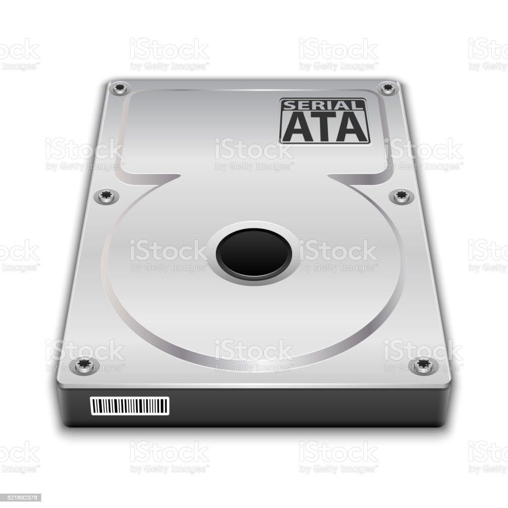 Vector Hard Disk Drive vector art illustration