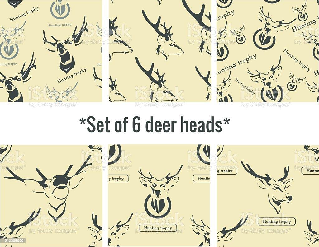 Vetor de cabeça de um cervo. Troféu de caça. vetor e ilustração royalty-free royalty-free