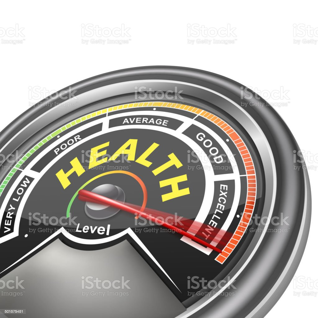 vector health conceptual meter indicator vector art illustration