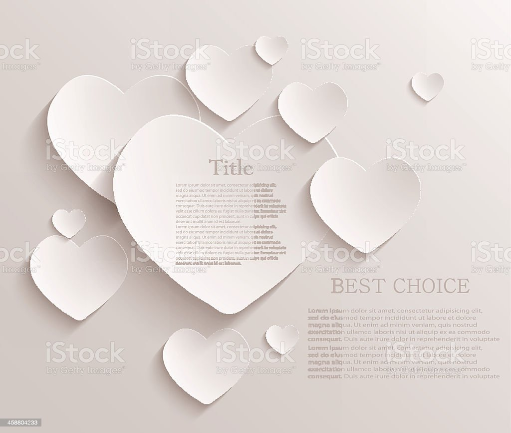 Vector heart background. Eps10 vector art illustration