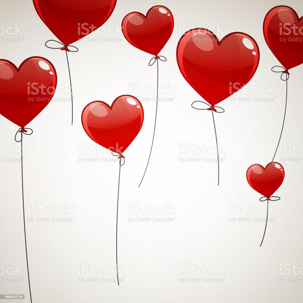 Vector Heart Balloons royalty-free stock vector art