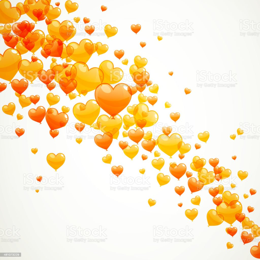 Vector Heart Balloons vector art illustration