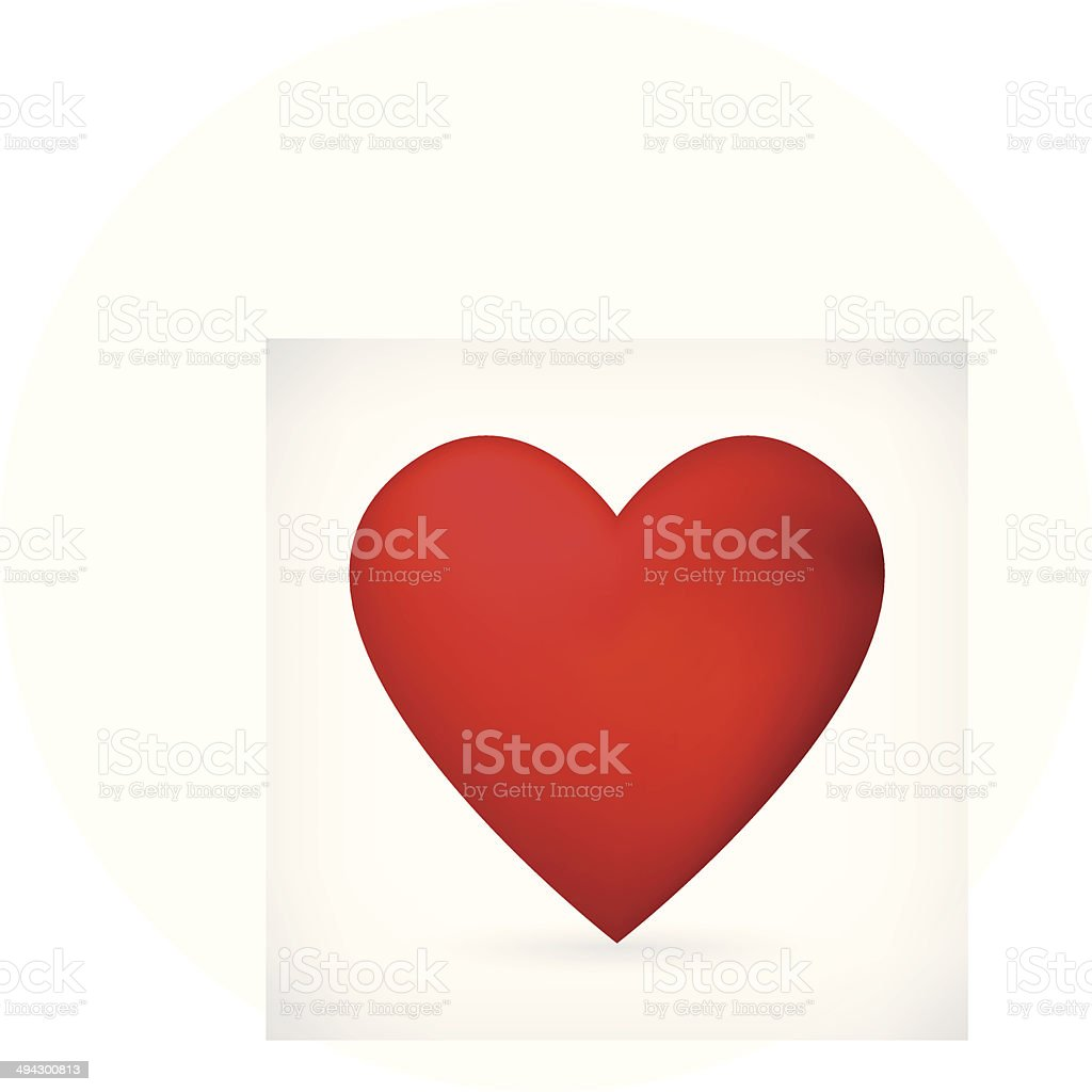 vector heart icon isolated vector art illustration