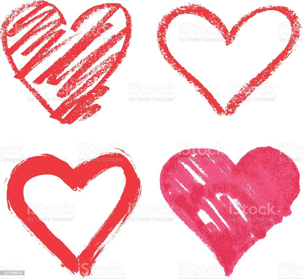 vector heart set vector art illustration
